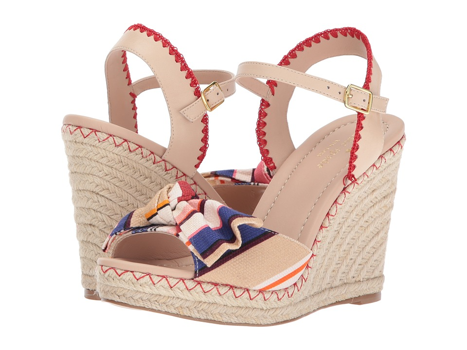 Kate Spade New York - Jane (Multicolor Berber Stripe Printed Canvas/Sand Nappa) Women's Shoes