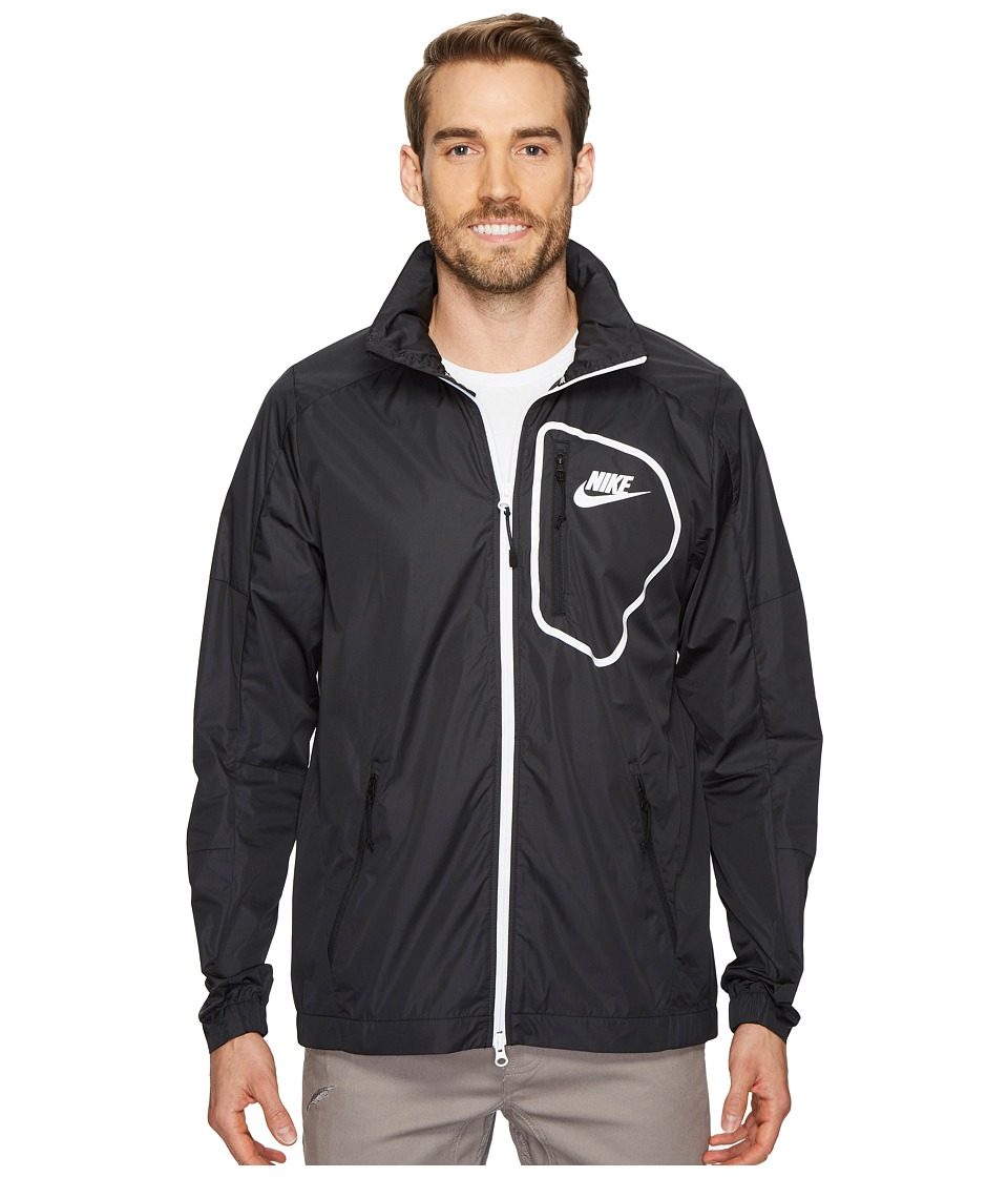 Nike Sportswear Advance 15 Jacket (Black/Black/Black/White) Men