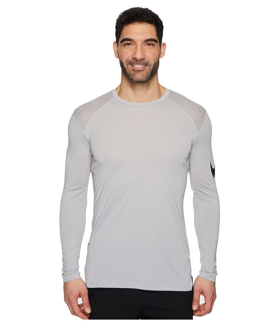 Nike Breathe Elite Basketball Long Sleeve Top (Atmosphere Grey/Black) Men