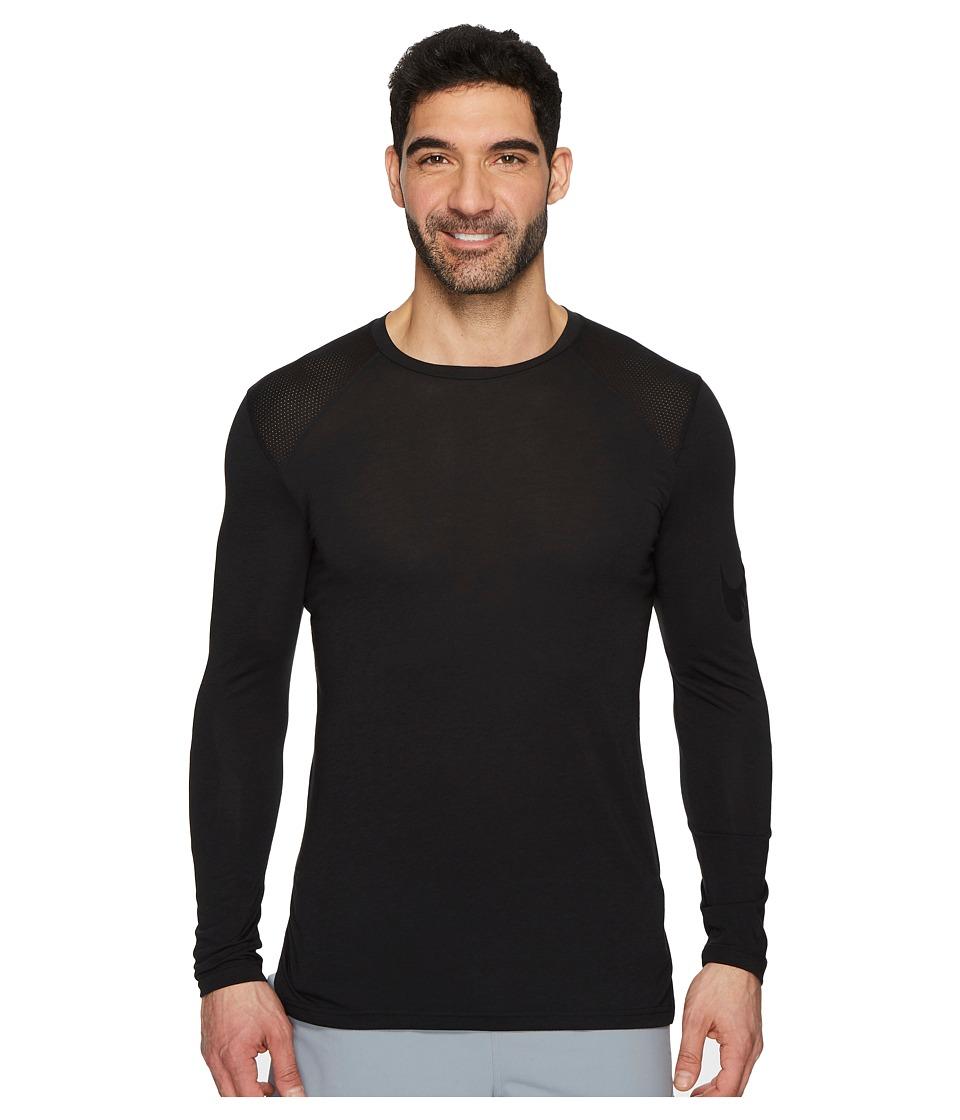 Nike Breathe Elite Basketball Long Sleeve Top (Black/Black) Men