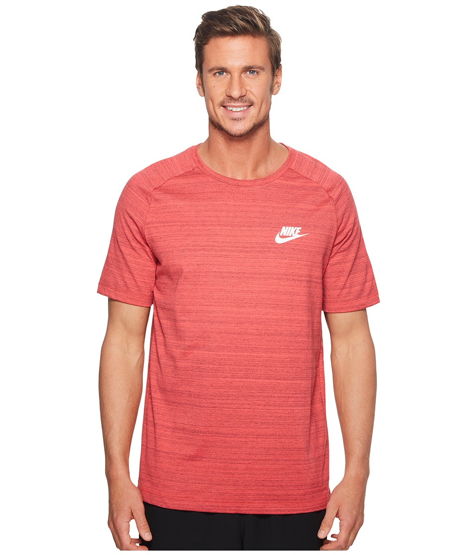 Nike Sportswear Advance 15 Top (Tropical Pink/Heather/White) Men