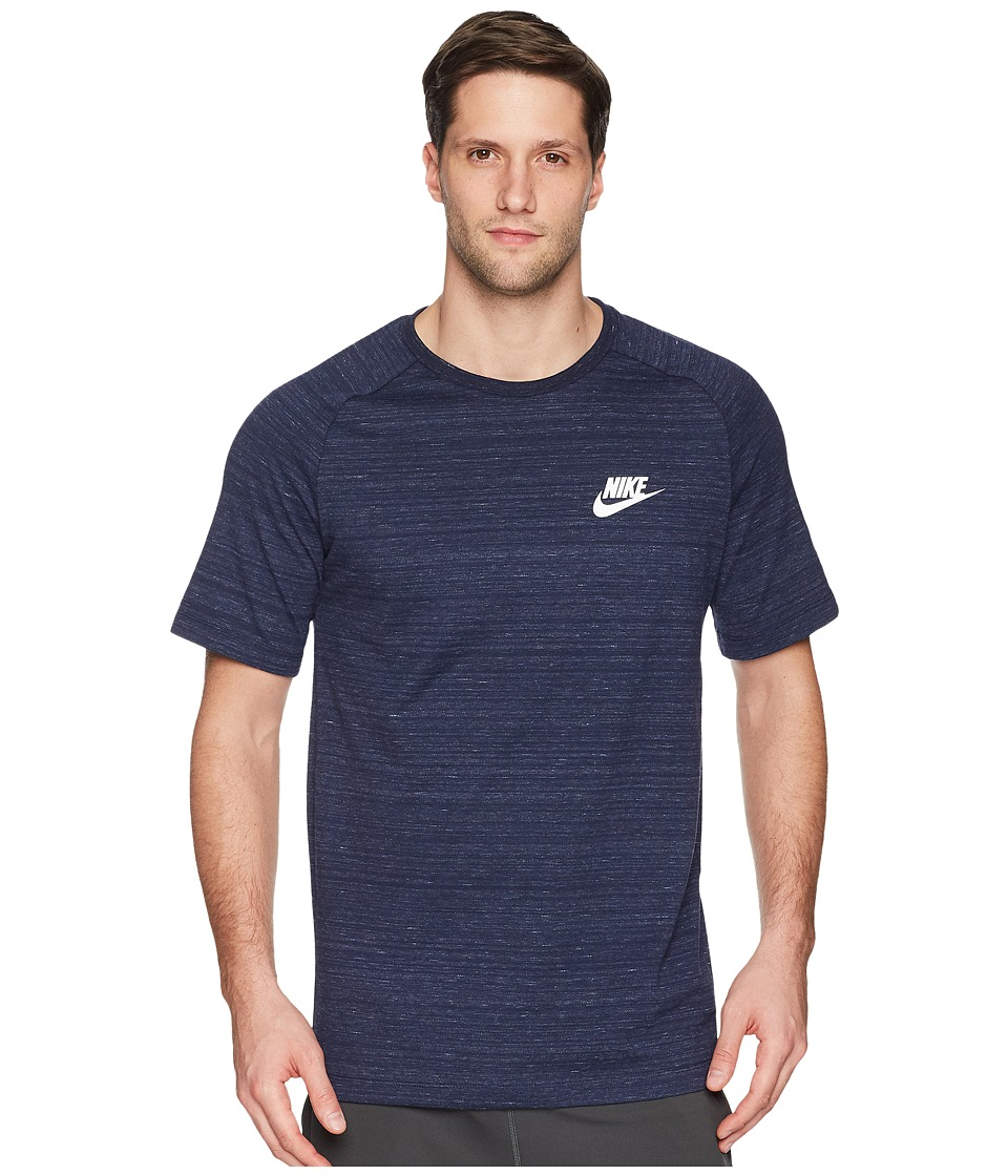 Nike Sportswear Advance 15 Top (Obsidian/Heather/White) Men