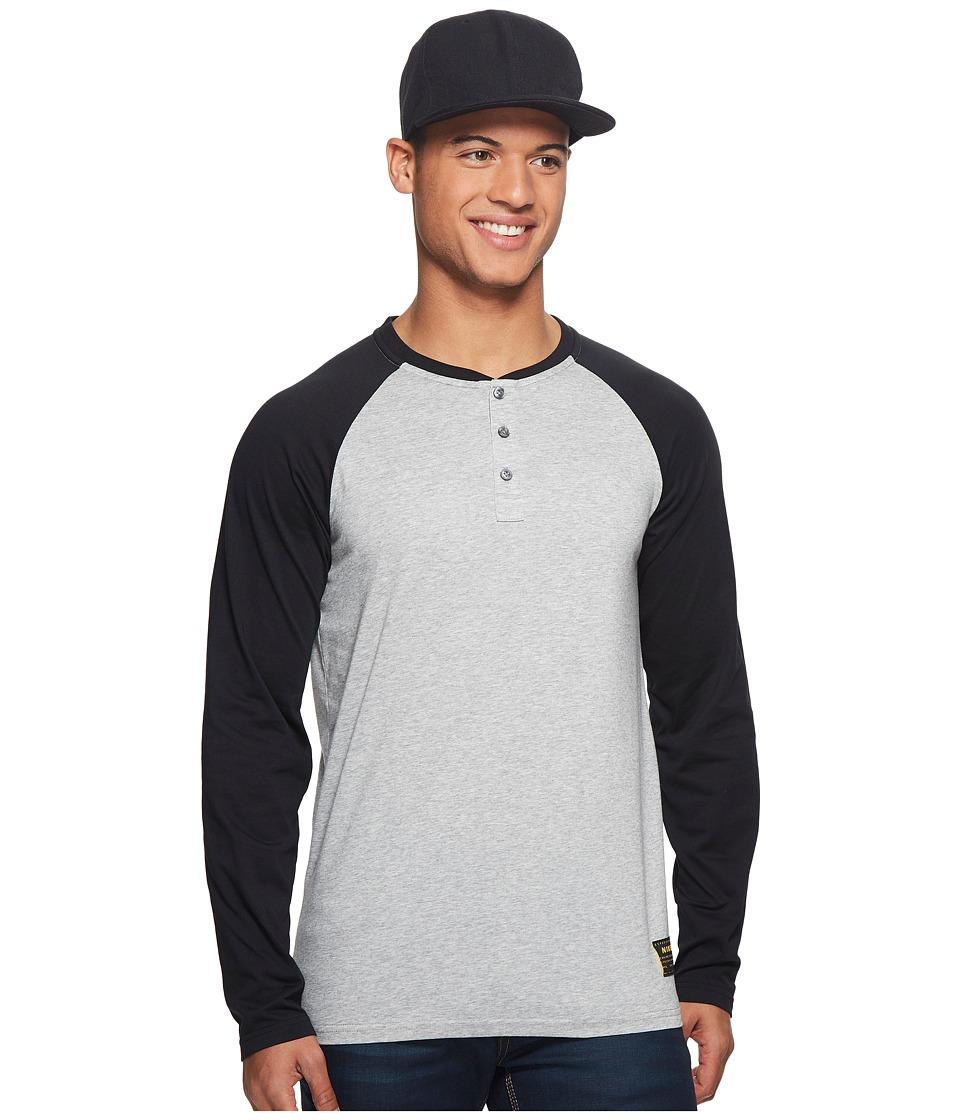 Nike SB Dry Henley Long Sleeve Skateboarding Top (Dark Grey Heather/Black) Men