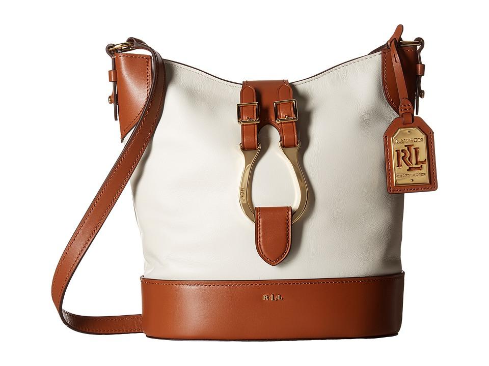 LAUREN Ralph Lauren - Dorrington Caden Large Crossbody (Vanilla/Latte) Cross Body Handbags