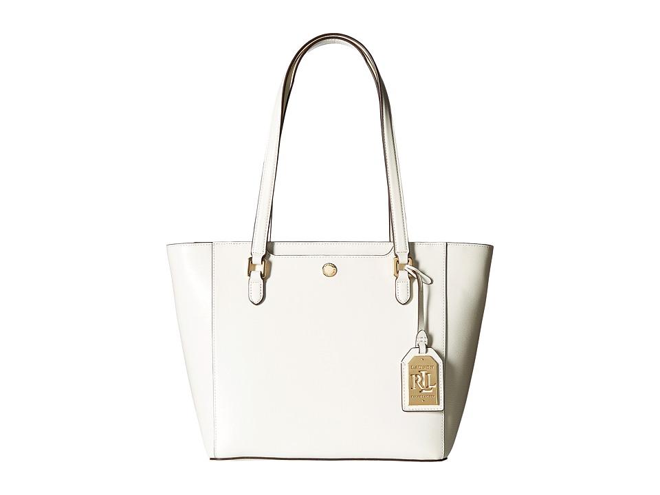 LAUREN Ralph Lauren - Newbury Halee II Shopper Medium (Vanilla) Handbags
