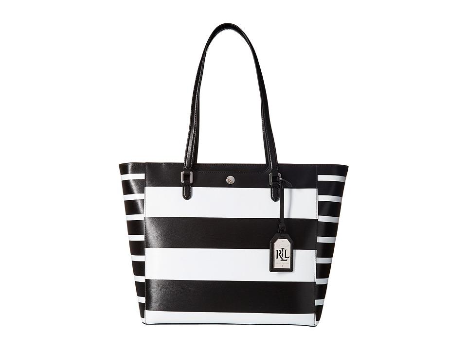 LAUREN Ralph Lauren - Newbury Halee Tote Medium (Black) Tote Handbags
