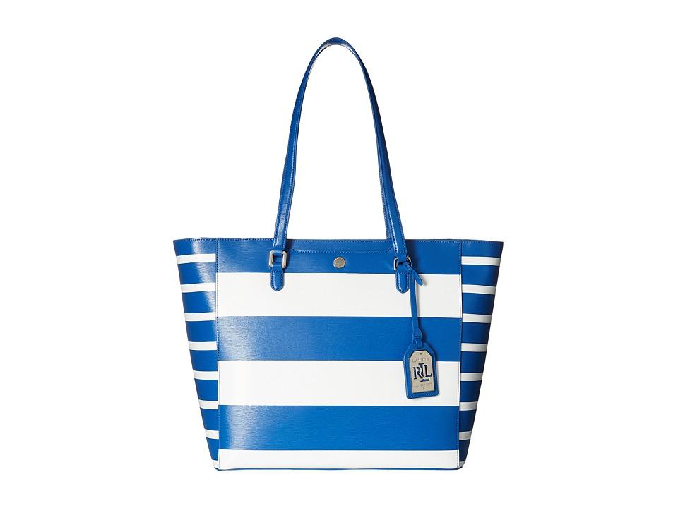 LAUREN Ralph Lauren - Newbury Halee Tote Medium (Snorkel Blue) Tote Handbags