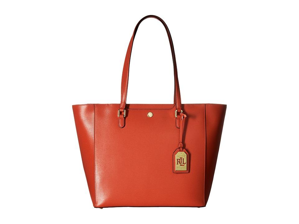 LAUREN Ralph Lauren - Newbury Halee Tote Medium (Cayenne) Tote Handbags