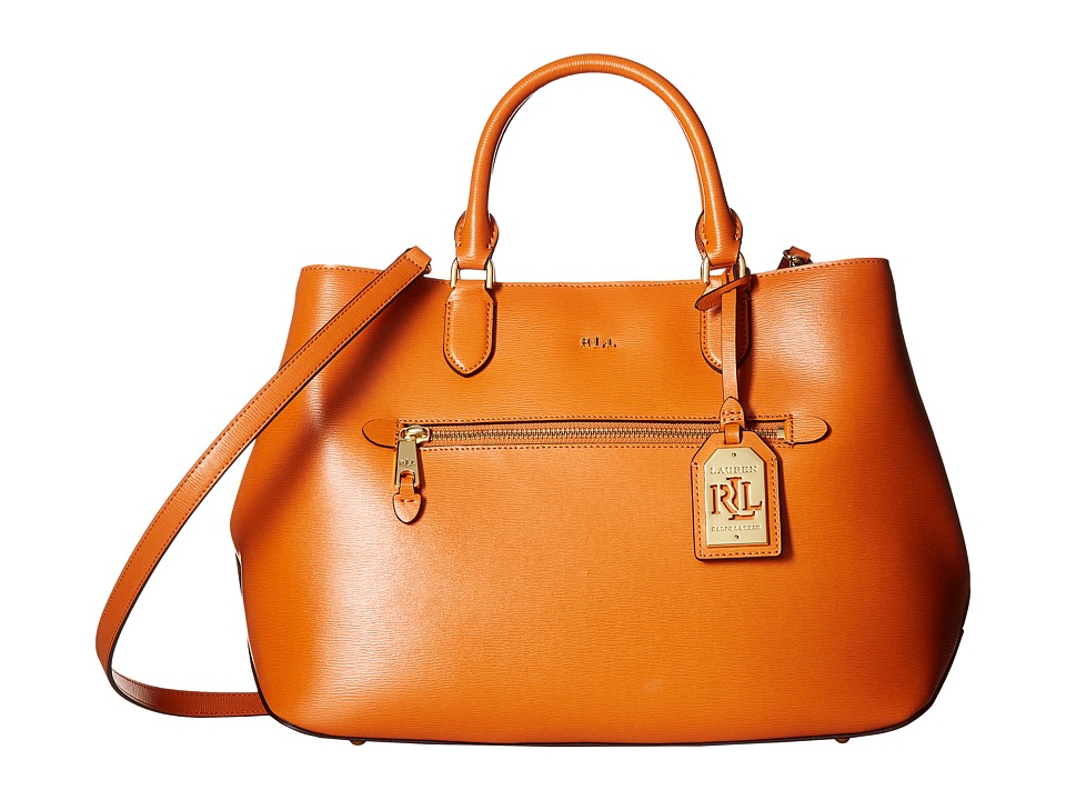 LAUREN Ralph Lauren - Newbury Sabine Satchel Medium (Sunset) Satchel Handbags