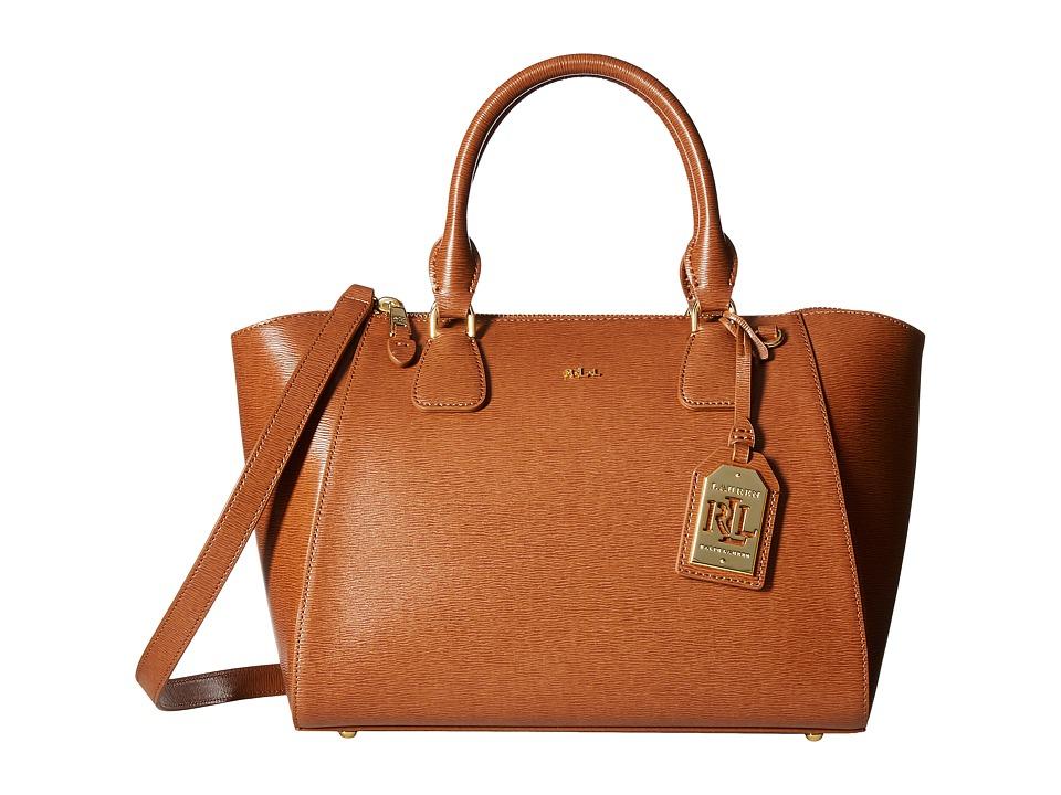 LAUREN Ralph Lauren - Newbury Stefanie II Satchel Small (Lauren Tan) Satchel Handbags