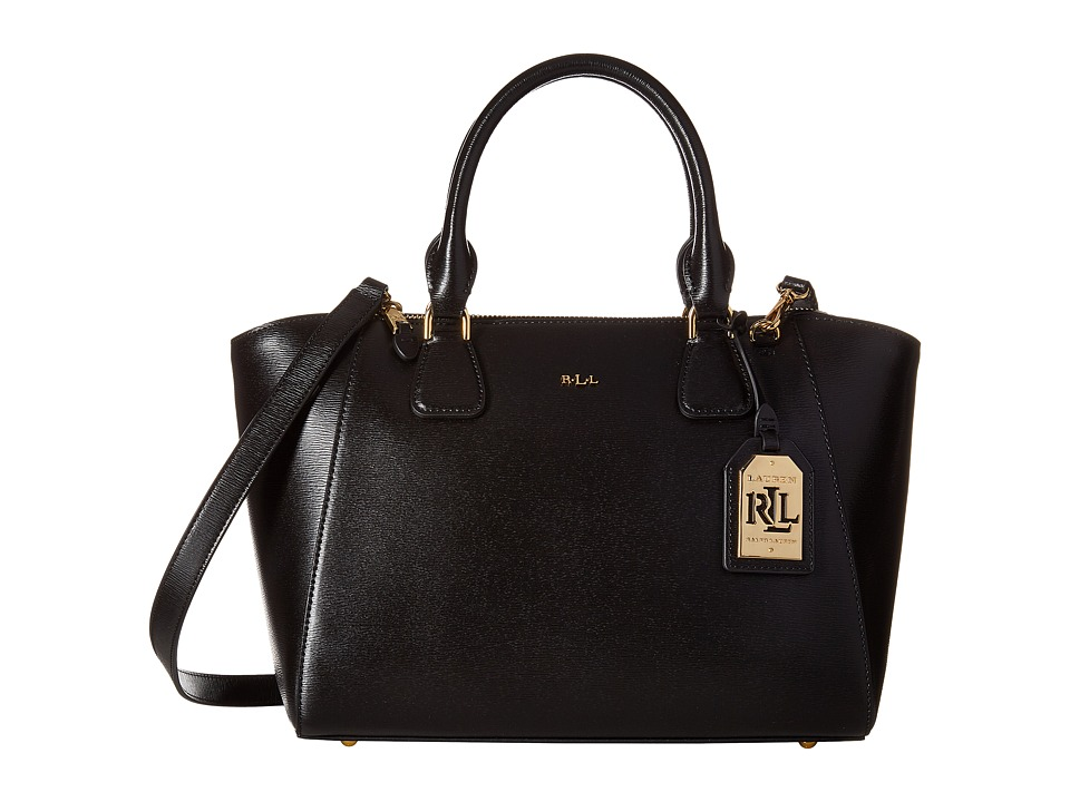 LAUREN Ralph Lauren - Newbury Stefanie II Satchel Small (Black) Satchel Handbags