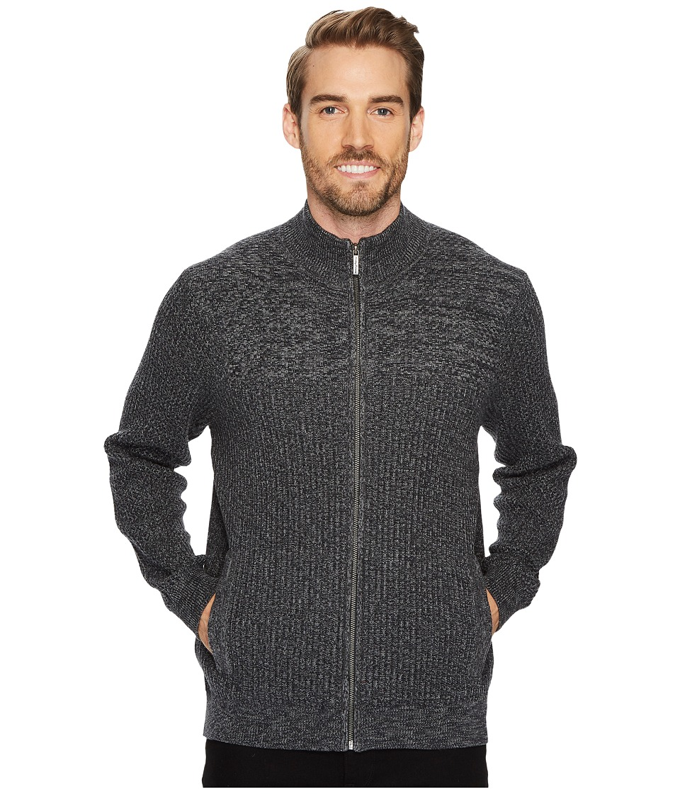 Tommy Bahama Medina Marl Full Zip (Charcoal) Men