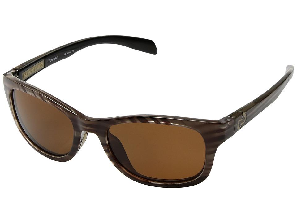 Native Eyewear - Highline Polarized (Wood Brown) Sport Sunglasses