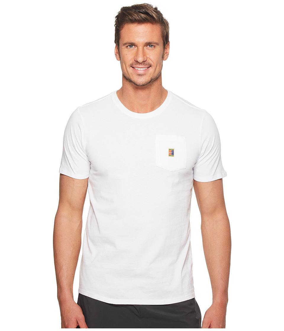Nike Court Heritage Pocket Tennis T-Shirt (White) Men