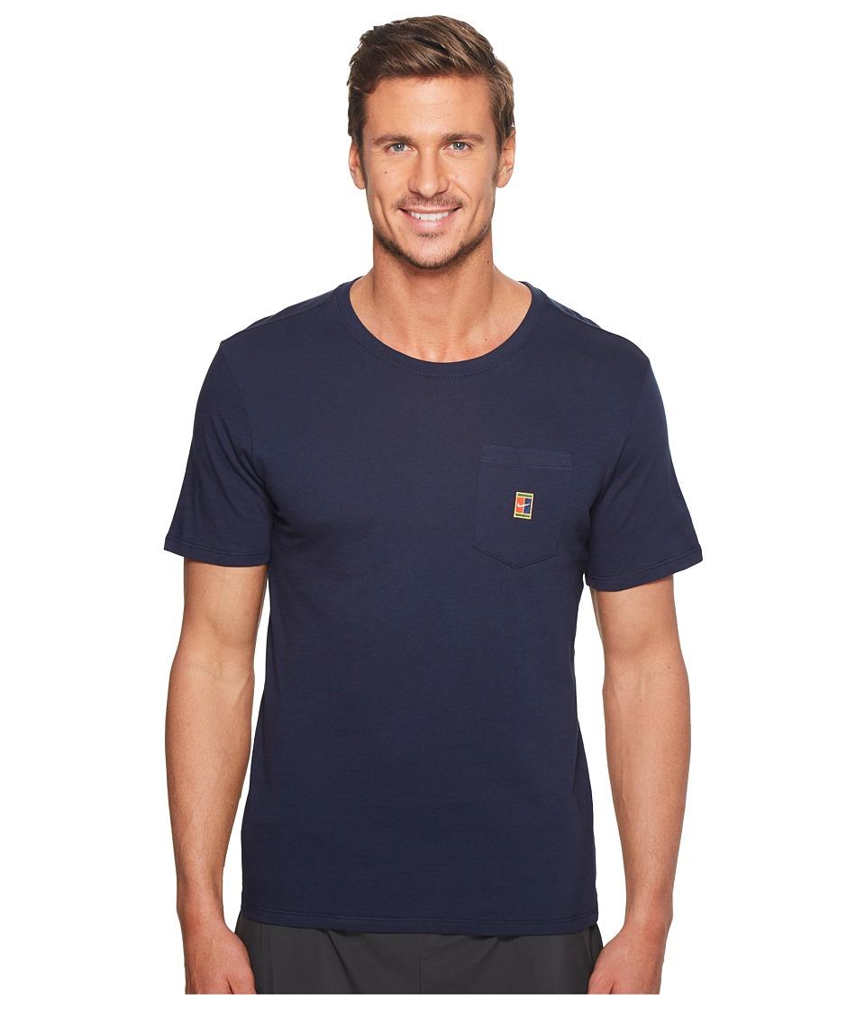 Nike Court Heritage Pocket Tennis T-Shirt (Obsidian) Men