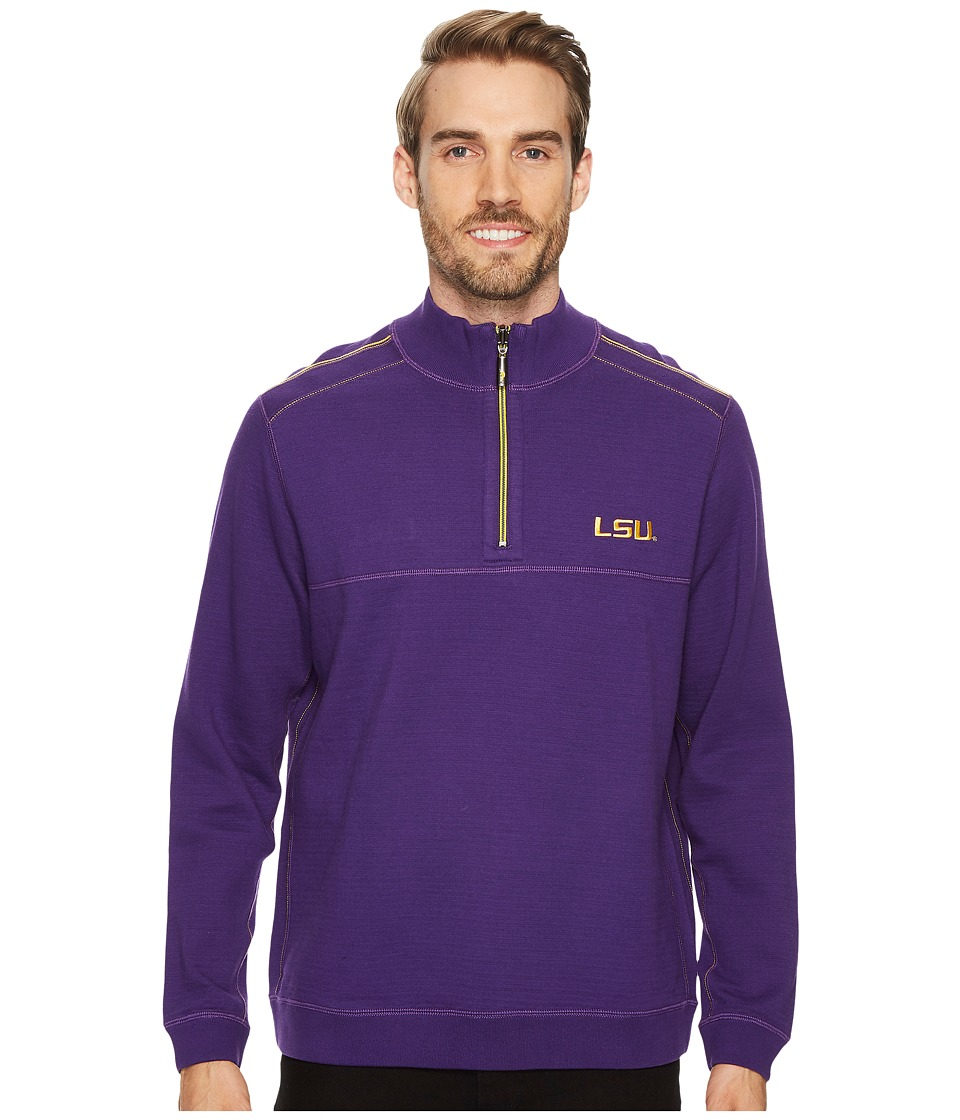 Tommy Bahama LSU Tigers Collegiate Campus Flip Sweater (Louisiana State University) Men