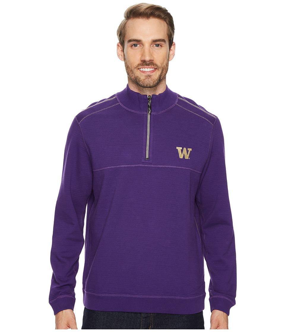 Tommy Bahama Washington Huskies Collegiate Campus Flip Sweater (University of Washington) Men