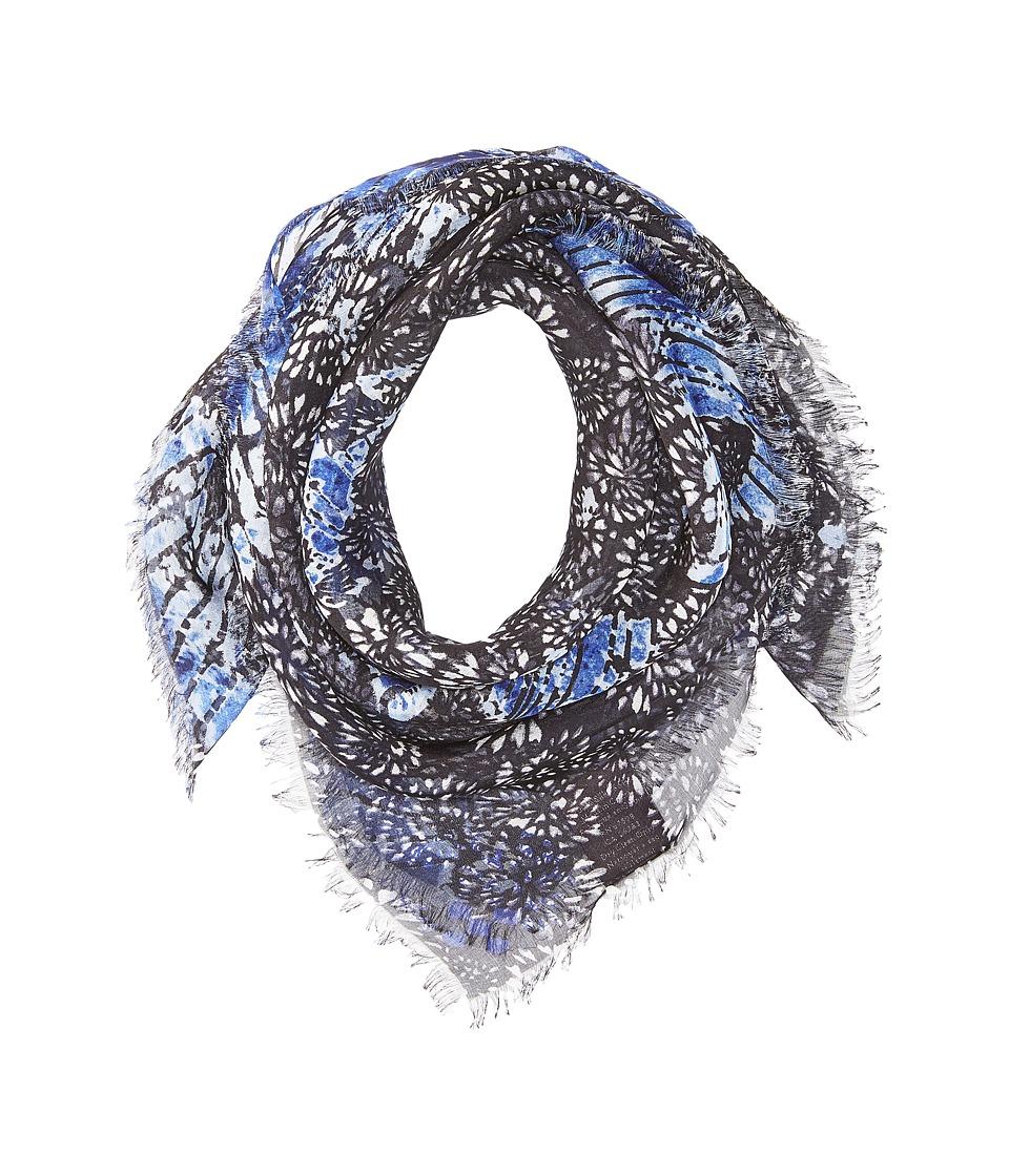 Vince Camuto - Vintage Hand Dye Bandana (Black/Blue) Scarves