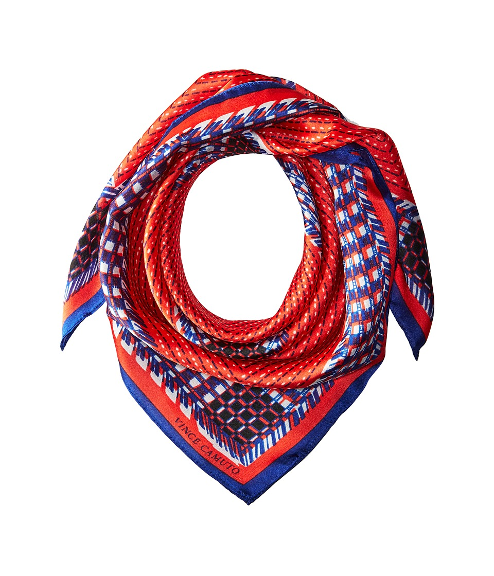 Vince Camuto - Woven Bandana (Red/Blue) Scarves
