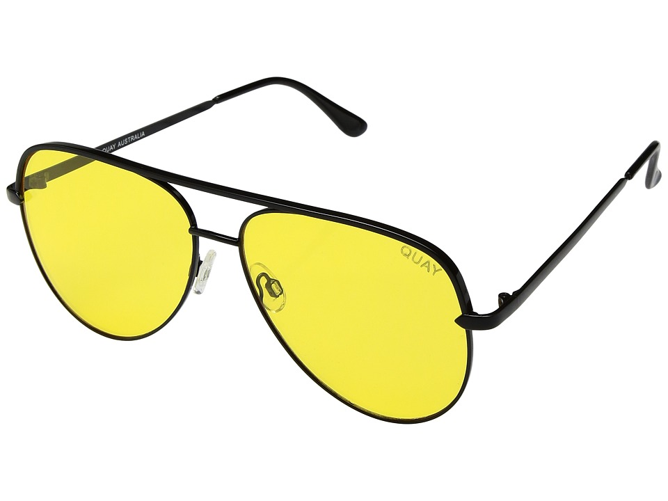 QUAY AUSTRALIA - Sahara (Black/Yellow) Fashion Sunglasses