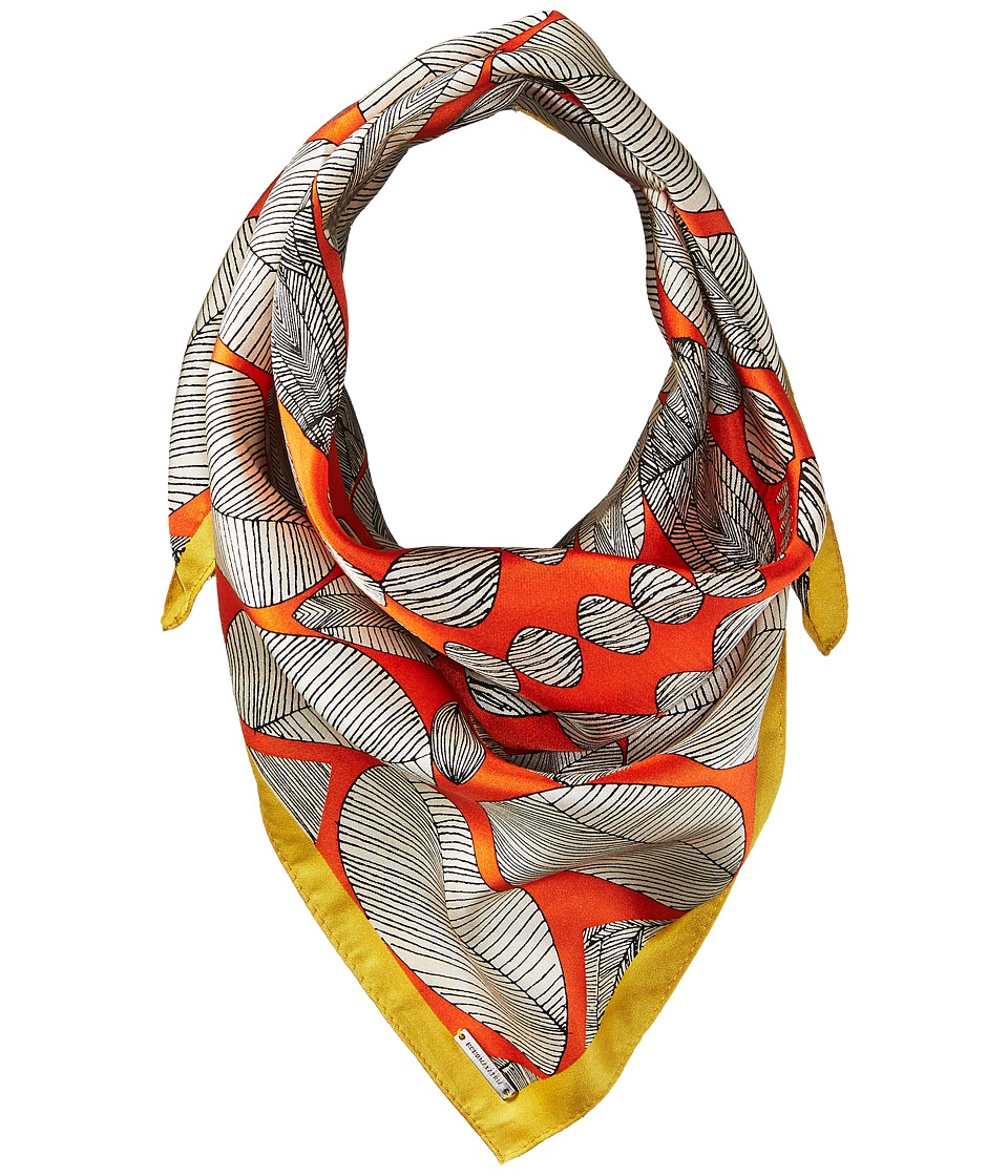 BCBGMAXAZRIA - Tribal Shield Square Scarf (Orange) Scarves