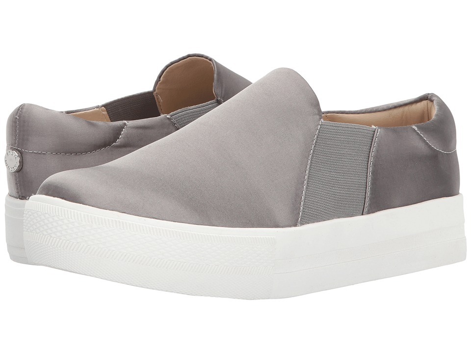 Steve Madden - Brighton (Grey Satin) Women's Slip on Shoes