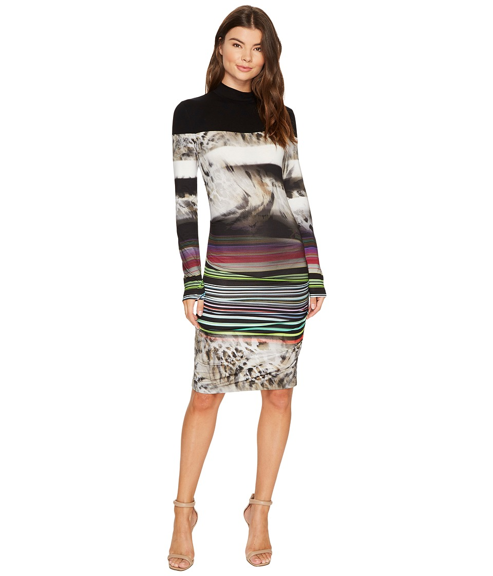 Nicole Miller - Gypsy Grunge Striped Jersey (Multi) Women's Dress