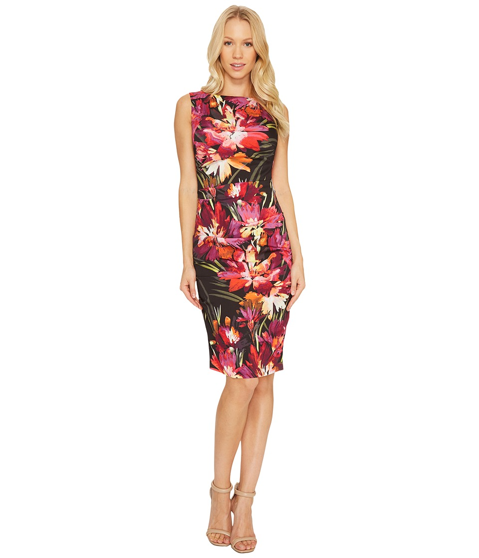 Nicole Miller Midnight Garden Lauren Black Multi Dress