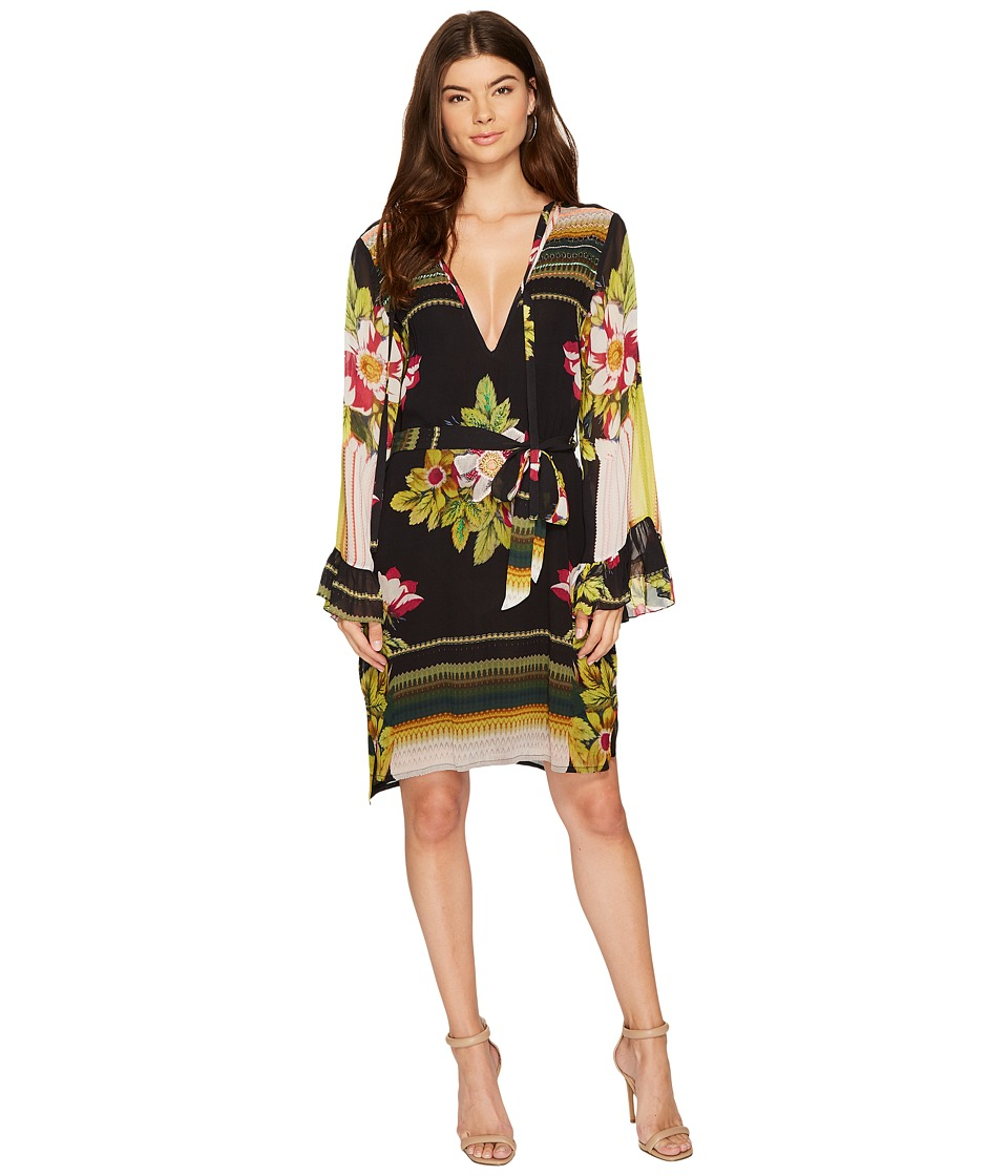 Nicole Miller - La Plage By Nicole Miller Saint Tropez Embellished Dress (Black Multi) Women's Dress