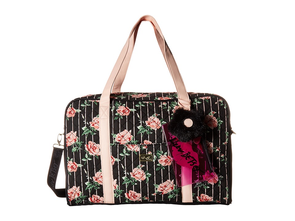 Luv Betsey - Crusin Cotton Weekender (Black/Rose) Weekender/Overnight Luggage