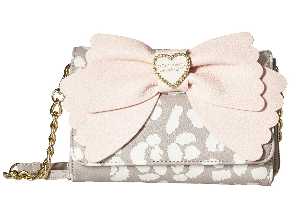 Betsey Johnson - Bow Crossbody (Blush Mutli) Cross Body Handbags