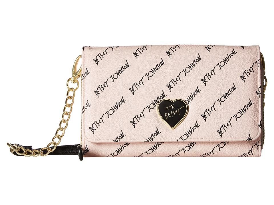 Betsey Johnson - Bow Crossbody (Blush) Cross Body Handbags