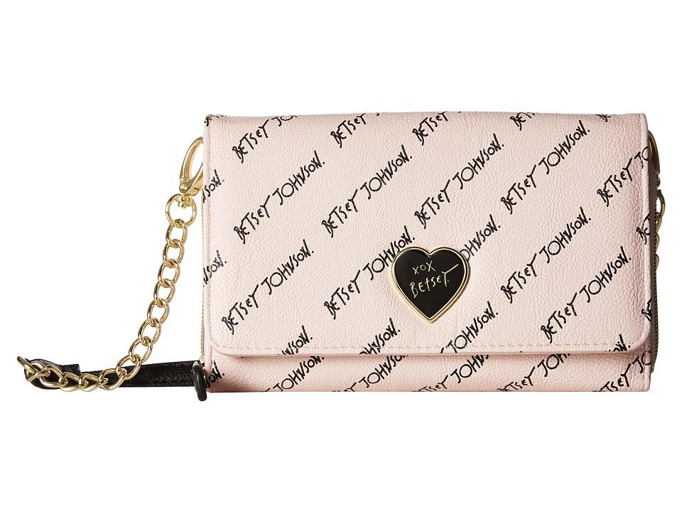 Betsey Johnson - Bow Crossbody (Blush) Cross Body Handbags