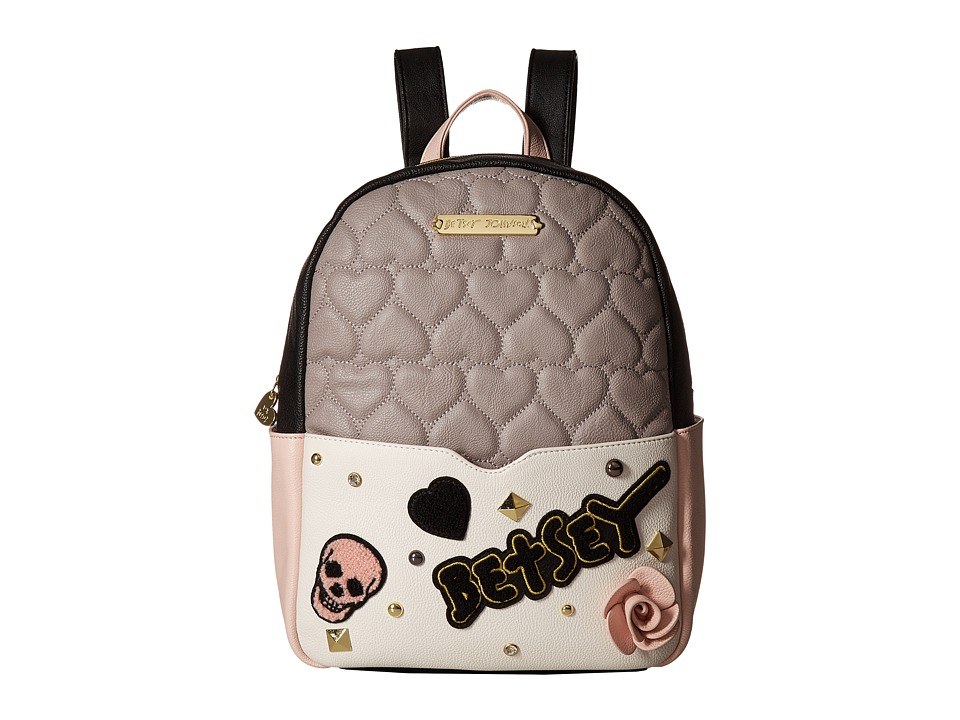Betsey Johnson - Backpack (Grey Multi) Backpack Bags