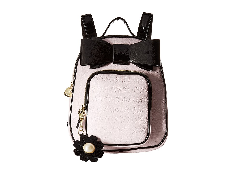 Betsey Johnson - Quilted Winged Heart Backpack (Blush) Backpack Bags