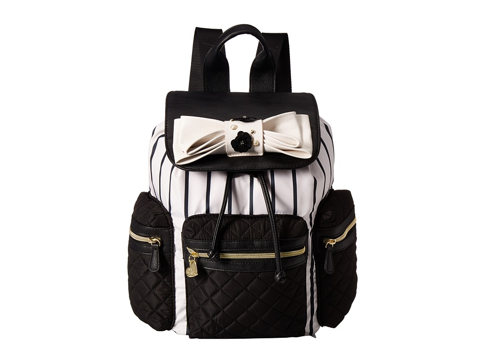Betsey Johnson - Backpack (Black/White) Backpack Bags