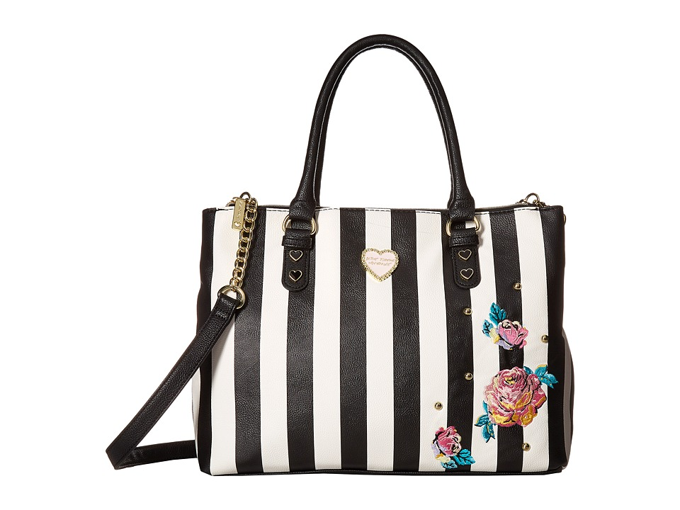 Betsey Johnson - Triple Compartment Satchel (Stripe) Handbags