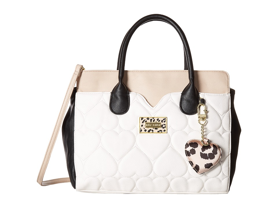 Betsey Johnson - Dip Satchel with Removable Pouch (Cheetah) Handbags