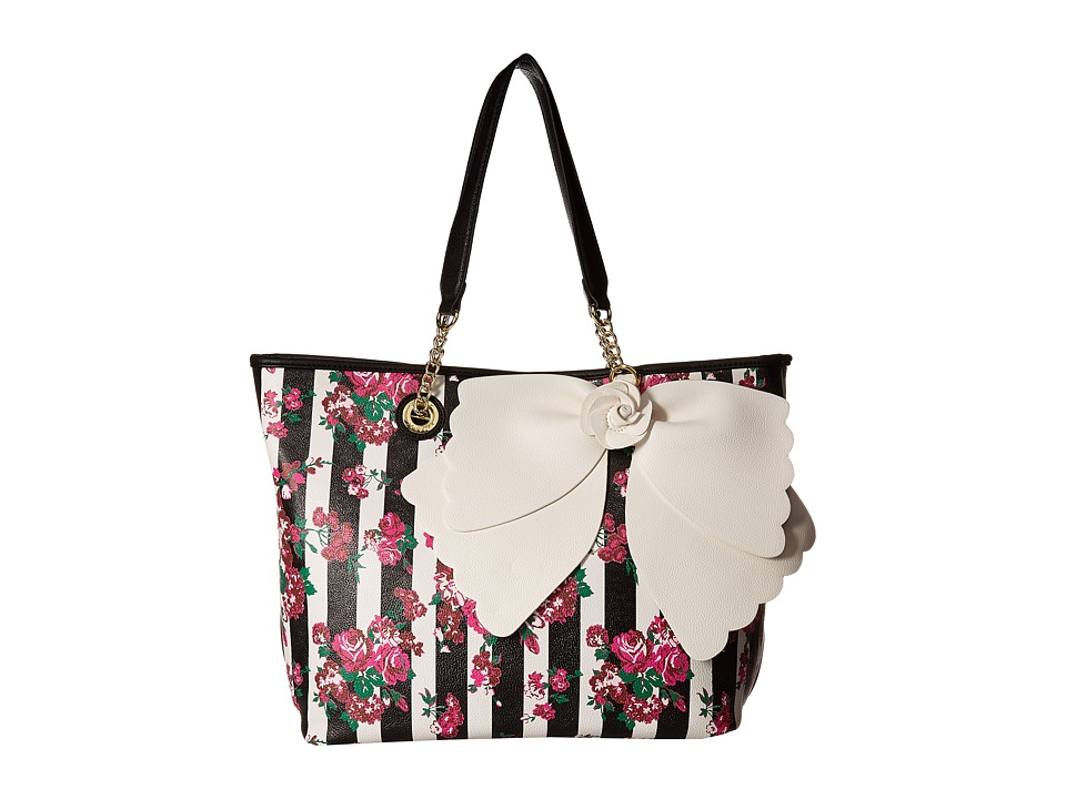 Betsey Johnson - East/West Tote with Pouch (Floral) Handbags