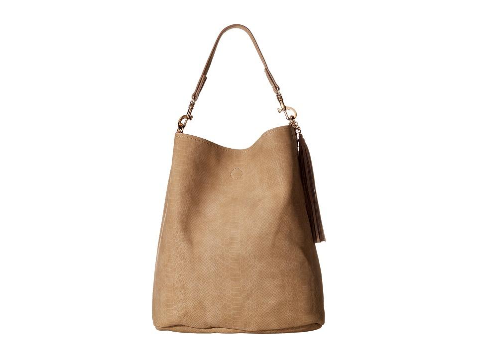 Deux Lux - Sydney Snake Hobo with Tassel (Nude) Hobo Handbags