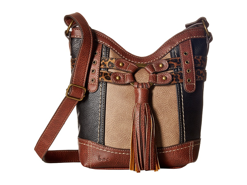 b.o.c. - Brantley Xbody (Black/Mink/Animal) Handbags