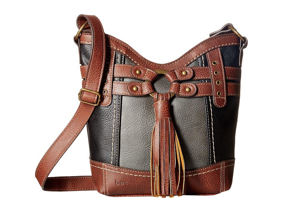 b.o.c. - Brantley Xbody (Black/Charcoal/Walnut) Handbags