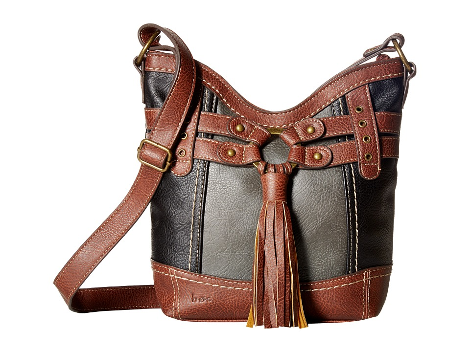 b.o.c. - Brantley Xbody (Black/Animal/Walnut) Handbags