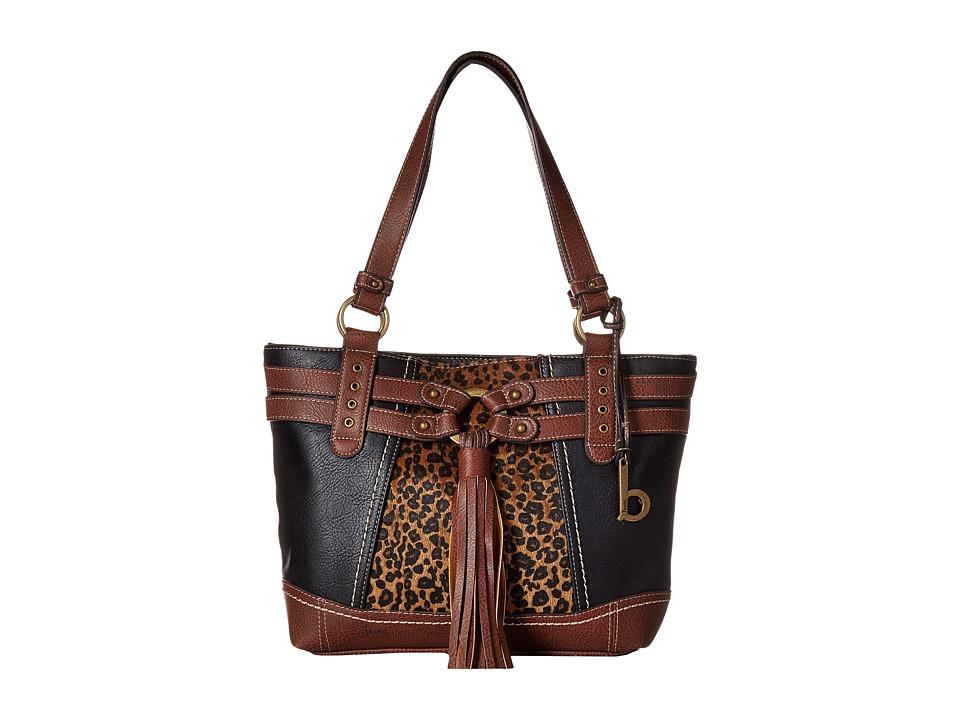 b.o.c. - Brantley Tote (Black/Animal/Walnut) Tote Handbags