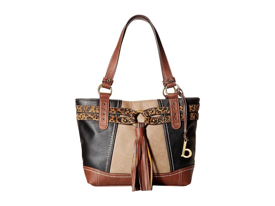 b.o.c. - Brantley Tote (Black/Mink/Animal) Tote Handbags