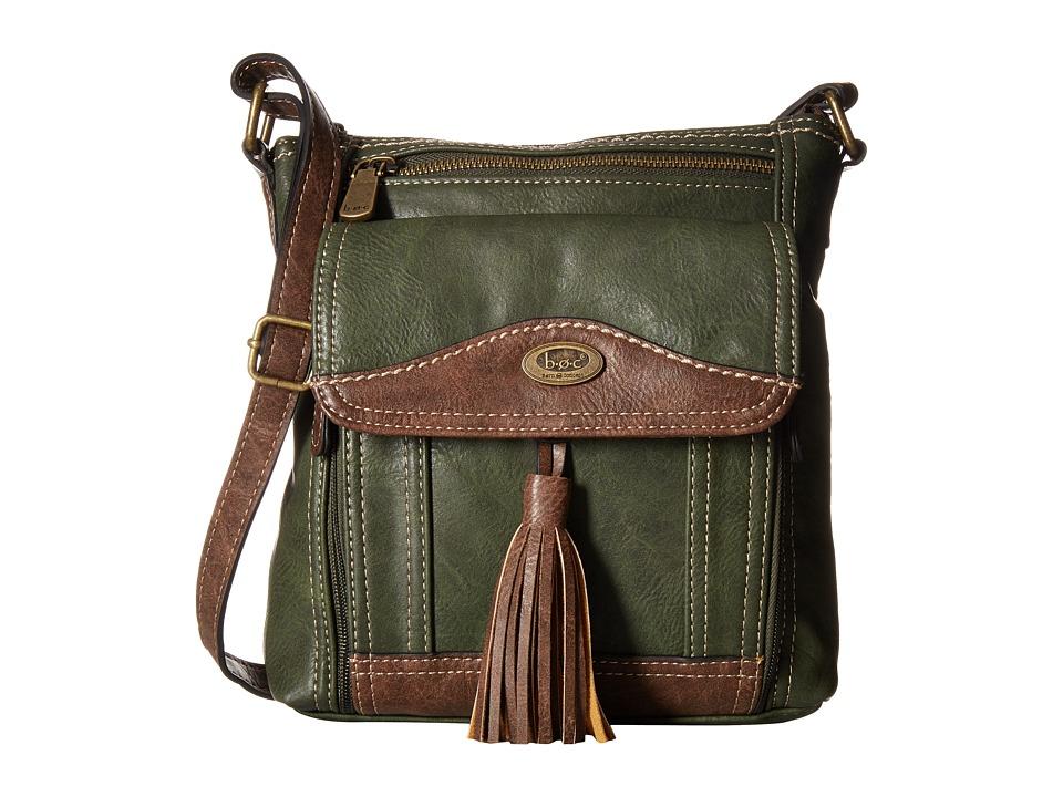 b.o.c. - Devereux Organizer Xbody (Olive/Chocolate) Handbags