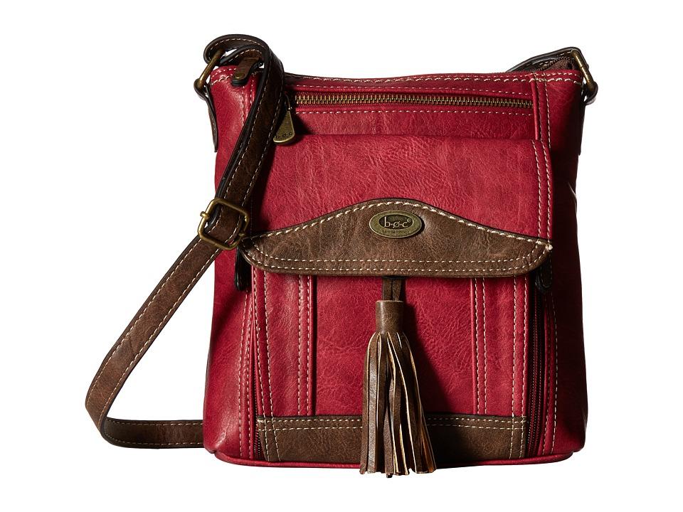 b.o.c. - Devereux Organizer Xbody (Burgundy/Chocolate) Handbags