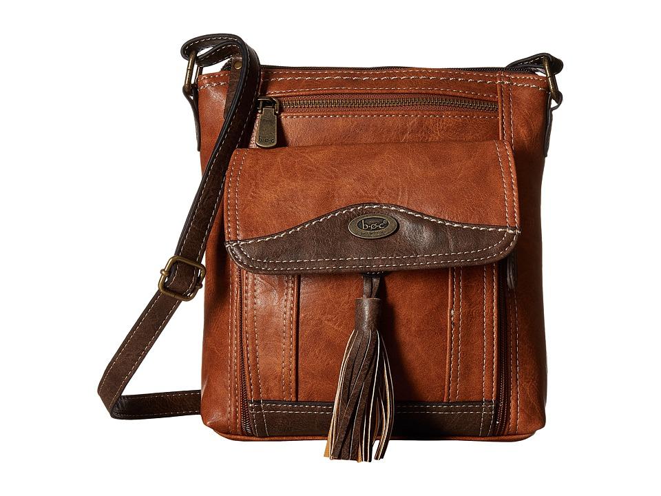 b.o.c. - Devereux Organizer Xbody (Saddle/Chocolate) Handbags