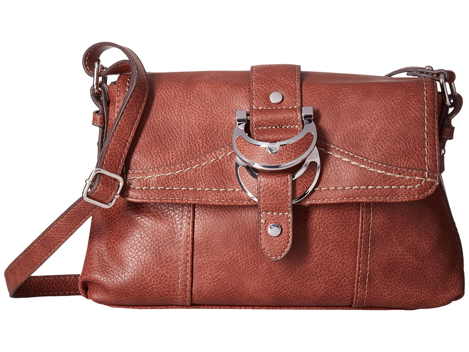 b.o.c. - Morley East/West Flap Crossbody (Cognac) Cross Body Handbags