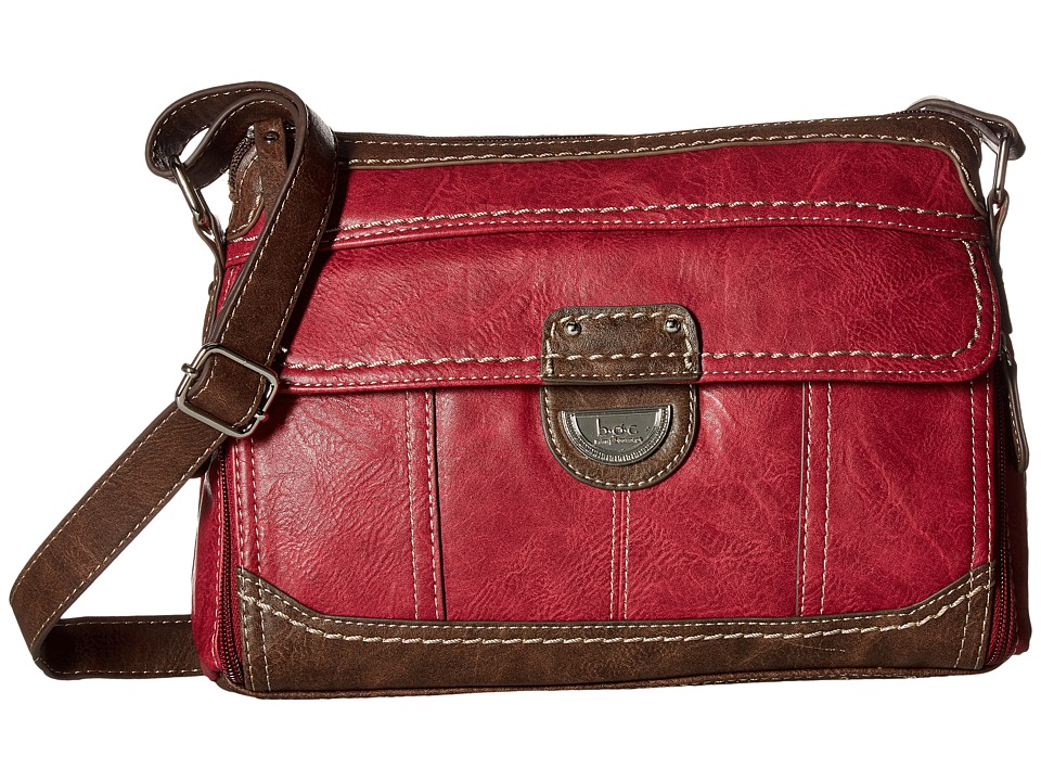 b.o.c. - Doyleton Organizer Crossbody (Burgundy/Chocolate) Cross Body Handbags